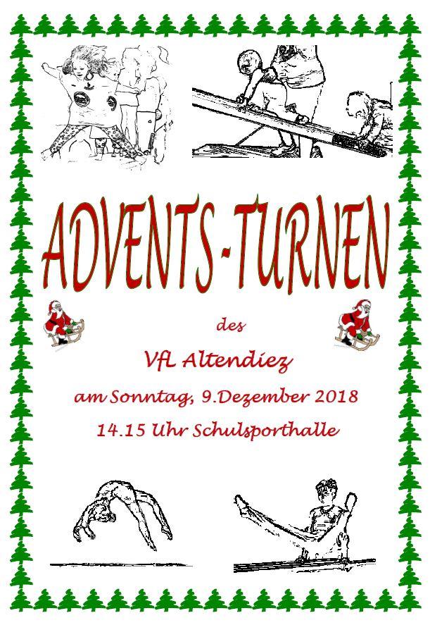 Adventsturnen am 09.12.2018 ab 14:15 in der Schulsporthalle Altendiez
